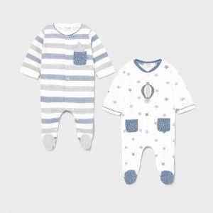 Set 2 pijamas punto recién nacido