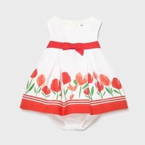 Vestido cenefa recién nacida niña Art. 21-01830-039