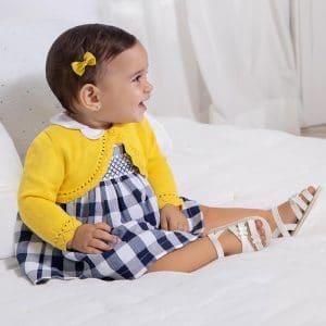 Vestido cuadros Ecofriends recién nacida niña Art. 21-01833-059
