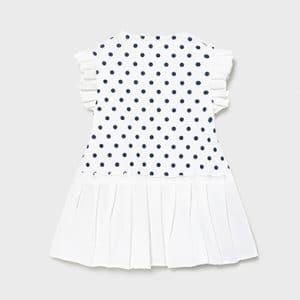 Vestido flores y plisado recién nacida niña Art. 21-01836-096